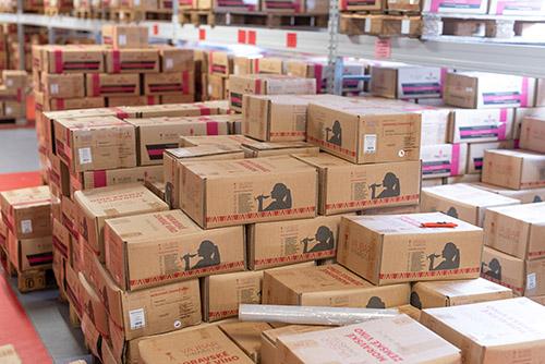 Bag-in-boxy naplněné vínem