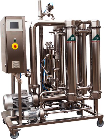 crossflow se 4 filtračnímmi moduly
