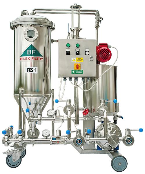 Svíčkový křemelinový filtr FKS1 - pro filtraci piva