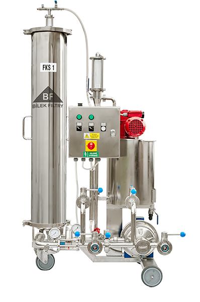 svíčkový křemelinový filtr FK1 - verze pro filtraci vína