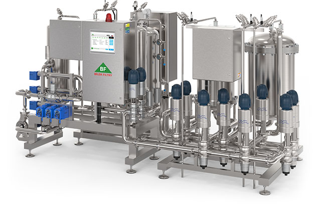 Полностью автоматический фильтр для холодной микробиологической стабилизации пива производительностью 50-300 гл/ч