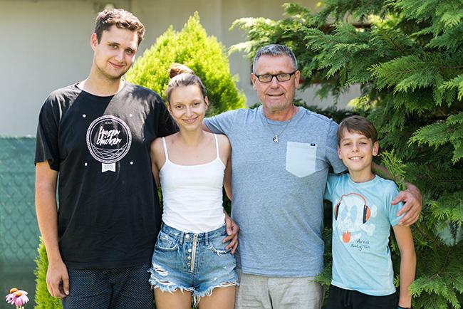 Vinař Vladimír Turčan se svou rodinou