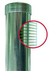 vinutá ocelová svíčka pro křemelinovou filtraci